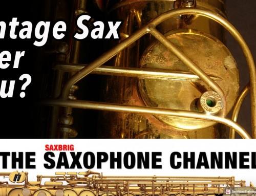 Vintage Sax oder Neu? Unterschiede? DailySax 068 Vintage Saxophon online lernen jazz youtube
