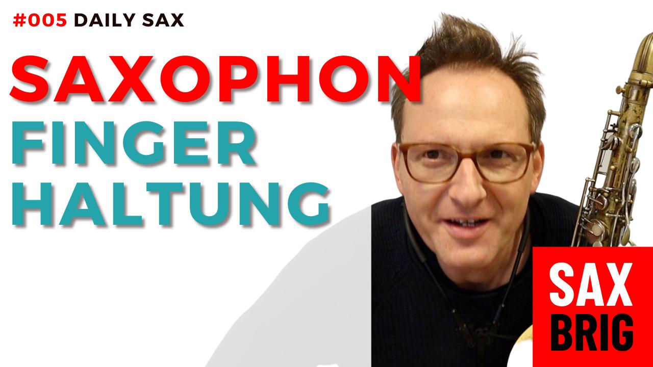 Saxophon Finger
