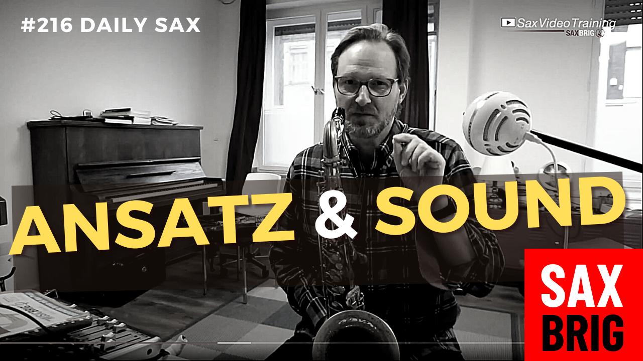 Saxophon Ansatz