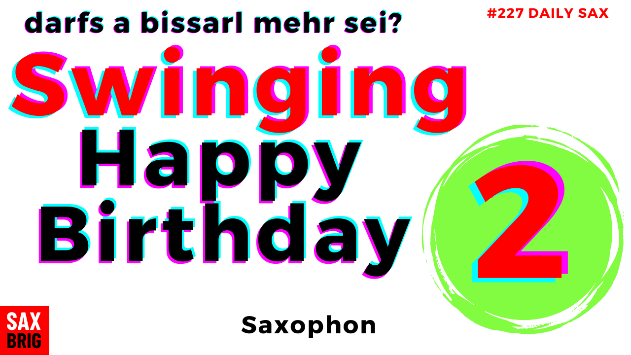Happy Birthday to you Noten Saxophon